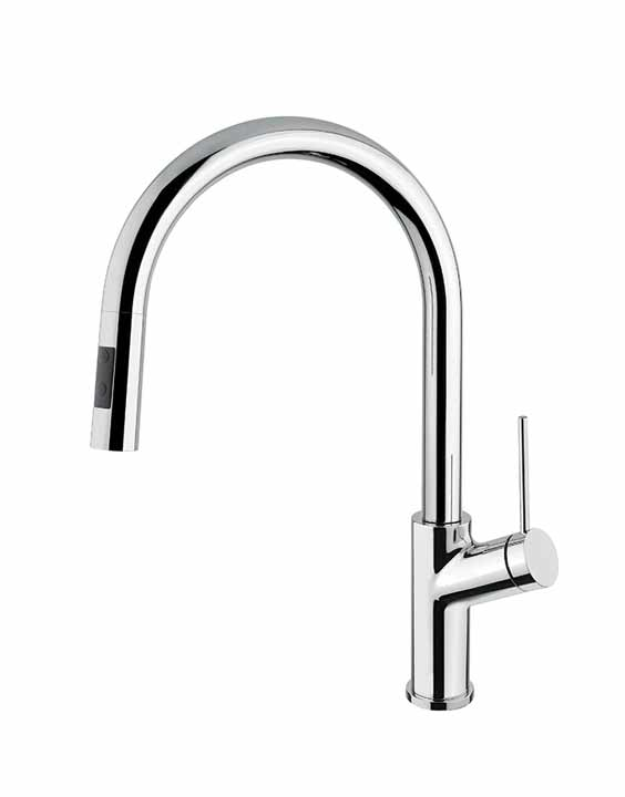 Aquabrass GINGER 6245N - Pull-down dual stream mode kitchen faucet