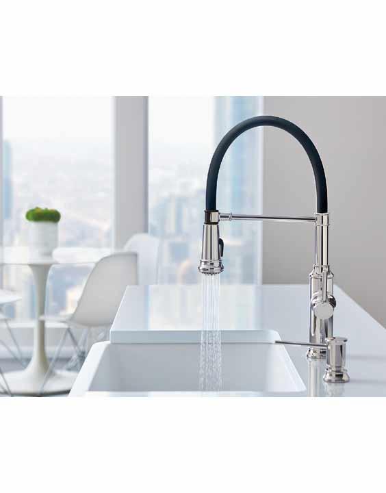 Blanco Empressa Semi Pro Single Lever High Pressure Kitchen Faucet Royal Bath Kitchen